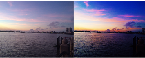 A Vietnamese before and after sunrise using VSCOcam.