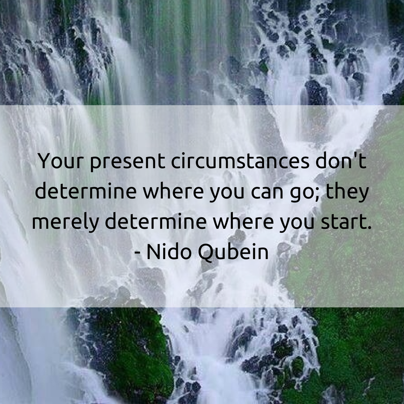 Your present circumstances don't