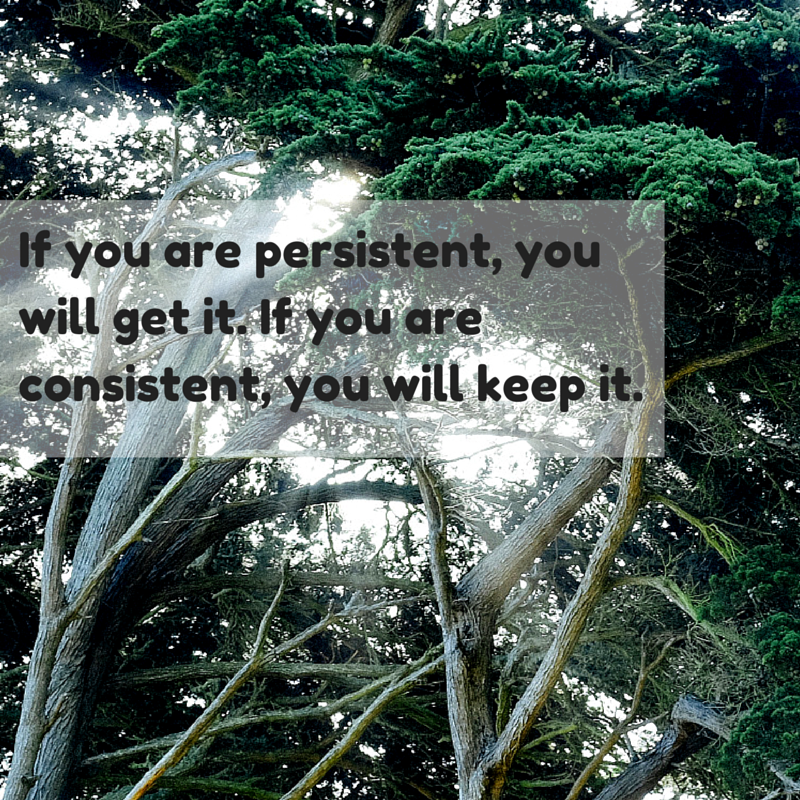 If you are persistent, you will get it.