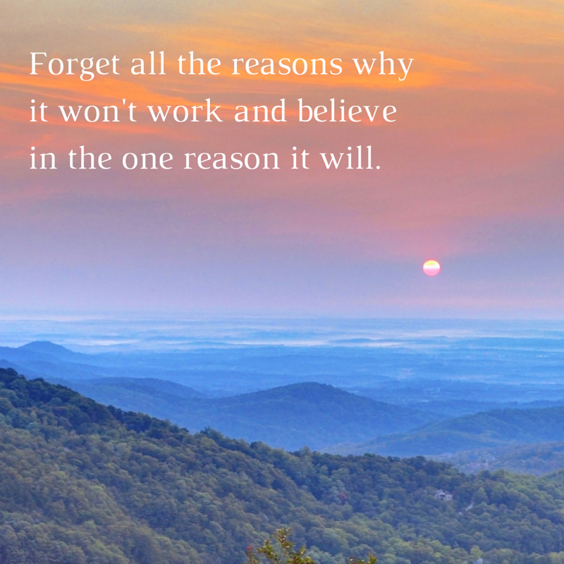 Forget all the reasons why it won't work