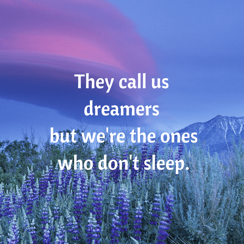 They call us dreamers but we're the ones