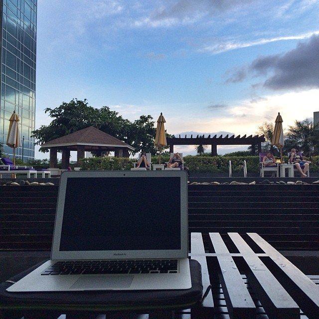 Working in Cebu, Philippines.