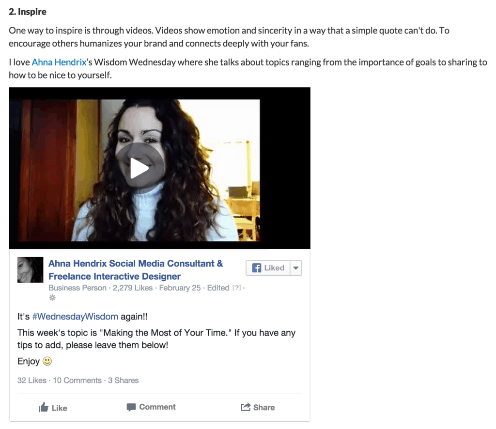 Featured in 7 Ways to Use Facebook Video for More Engagement