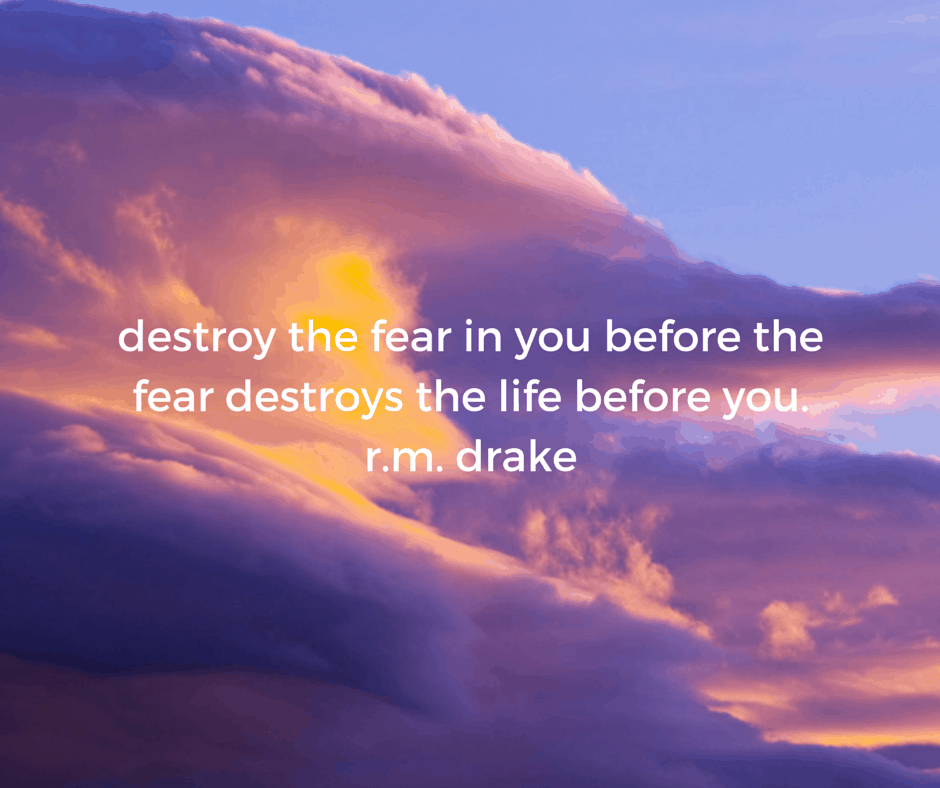 destroy the fear in you before the fear